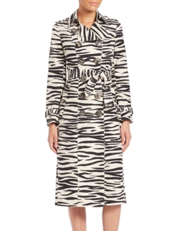 Burberry Prorsum  - Zebra-Print Trench Coat