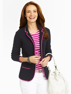 Talbots - Piped Knit Blazer