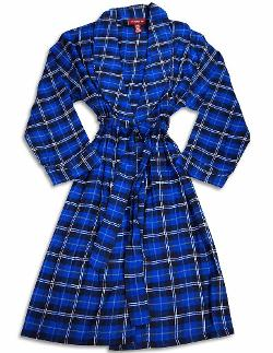 Private Label - Mens Flannel Plaid Robe