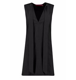 Boohoo - Belinda Plunge Tie Neck Woven Shift Dress