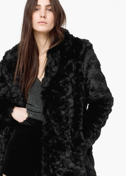 Mango - Faux Fur Coat