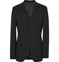Theory   - Black Wellar Slim-Fit Stretch-Wool Suit Jacket