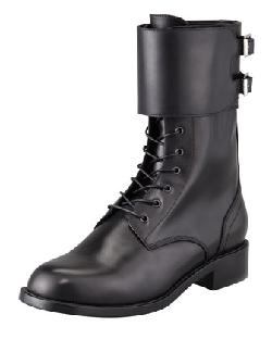 Saint Laurent  - Lace-Up Double-Buckle Combat Boot