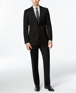Calvin Klein - Solid Wool Slim X Fit Suit
