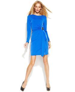Michael Kors  - Hardware-Detail Faux-Wrap Dress