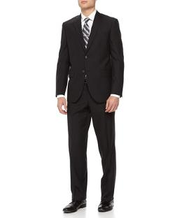 Neiman Marcus  - Two-Piece Ribbed Wool Suit
