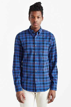 Urban Outfitters - Long-Sleeve Plaid Button-Down Shirt