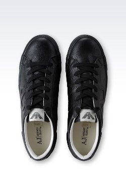 Armani Jeans - Sneaker in Faux Leather wth Logo