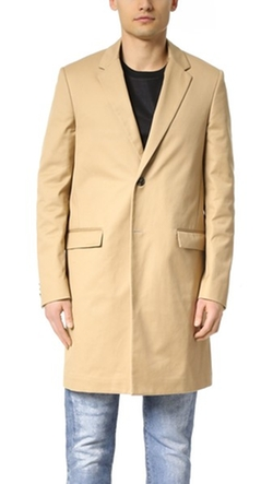 Calvin Klein Collection - Largo Compact Cotton Twill Overcoat
