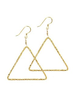 Charlene K  - Triangle Hammered Earrings