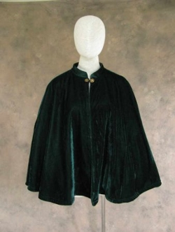 Victorian Dark Green Half Cape - Artemisia Designs