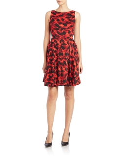 Taylor - Printed Fit-And-Flare Dress