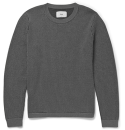 Folk - Waffle-Knit Cotton-Blend Sweater