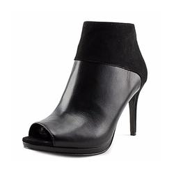 Nine West  - Get On It Peep-Toe Leather Booties
