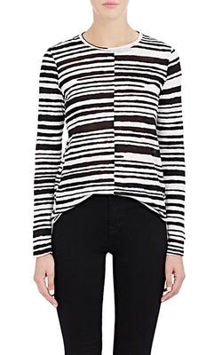 Proenza Schouler  - Blurred-Stripe T-Shirt