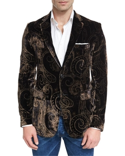 Etro  - Paisley Velvet Evening Jacket
