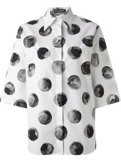 Dolce & Gabbana - Large Polka Dot Print Shirt