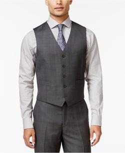 Ryan Seacrest Distinction - Tonal Plaid Vest
