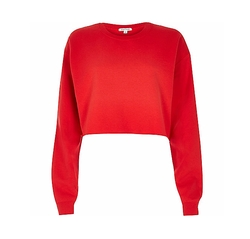 River Island - Red Cropped Sweater