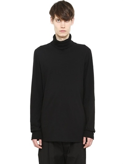 Rick Owens - Cotton Jersey Turtleneck T-Shirt