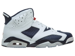 "Nike  - Air Jordan 6 Retro ""Olympic"" Leather Basketball Shoes"