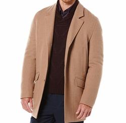 Perry Ellis - Solid Wool Topcoat