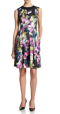 Carmen Marc Valvo Collection - Floral-Print Sleeveless Dress