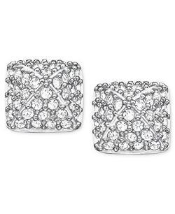 Swarovski - Rhodium-Plated Crystal Stud Earrings