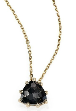 Suzanne Kalan - Black Night Quartz Pendant Necklace