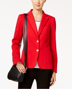 Tommy Hilfiger - Two-Button Ponte Blazer