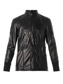 Bottega Veneta  - Leather field jacket