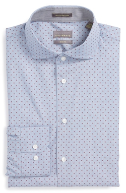 Calibrate  - Trim Fit Dot Dress Shirt