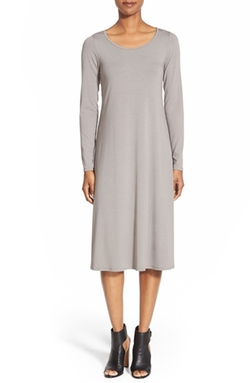 Eileen Fisher  - Scoop Neck Jersey Dress