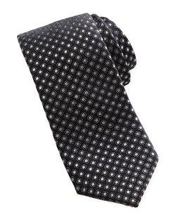 Neiman Marcus  - Dot-Jacquard Contrast-Tail Narrow Tie