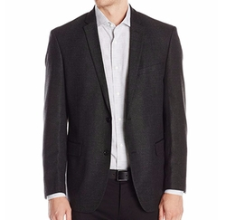 DKNY  - Solid Two Button Side Vent Slim Sport Coat