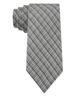 DKNY  - Silk-Blend Check Tie