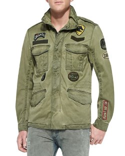 Diesel   - J-Amma Military Jacket W/ Patches