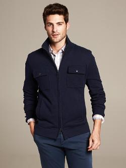 Banana Republic - Four-Pocket Full-Zip Sweater Jacket