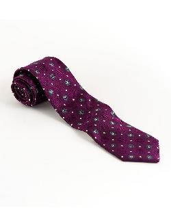 BLACK BROWN 1826  - Silk Neat Print Tie
