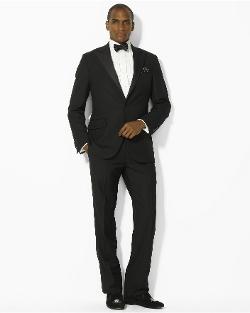 Ralph Lauren - Peak-Lapel Flat-Front Tuxedo
