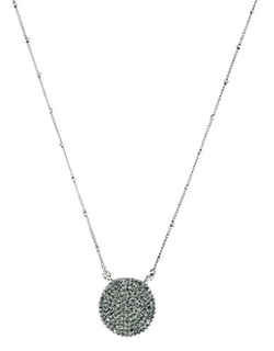 Lucky Brand  - Silver Rock Crystal Pendant Necklace
