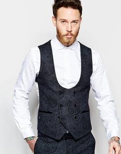 Noose & Monkey - Tonal Paisley Print Vest
