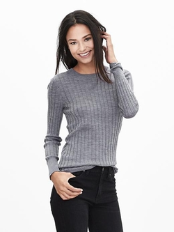 Banna Republic - Ribbed Extra-Fine Merino Wool Pullover Sweater