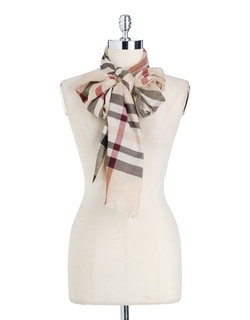 Lord & Taylor - Metallic Plaid Scarf