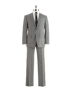 Andrew Marc - Modern Fit Two-Piece Wool Suit Set