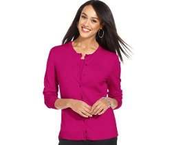 Charter Club  - Long-Sleeve Button-Front Cardigan