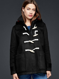 Gap  - Contrast Wool Toggle Coat