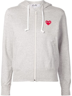 Comme Des Garçons Play - Heart Logo Embroidered Hoodie Jacket