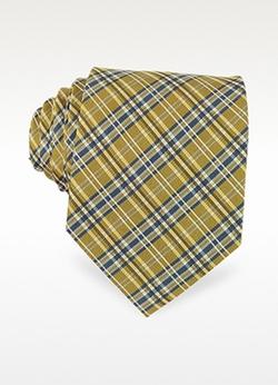 Forzieri - Plaid Woven Silk Tie
