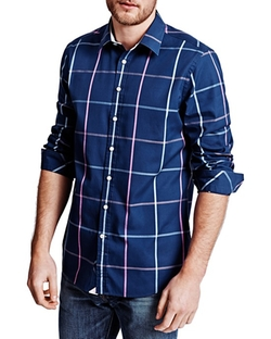 Thomas Pink  - Hollman Check Classic Fit Button Down Shirt
